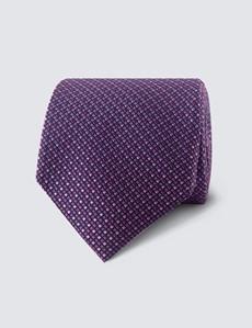 Men's Pink 2 Tone Squares Tie - 100% Silk