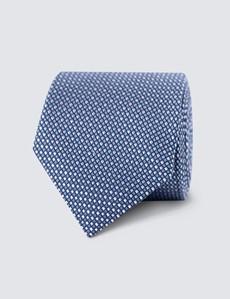 Men's Pink 2 Tone Squares Print Tie - 100% Silk