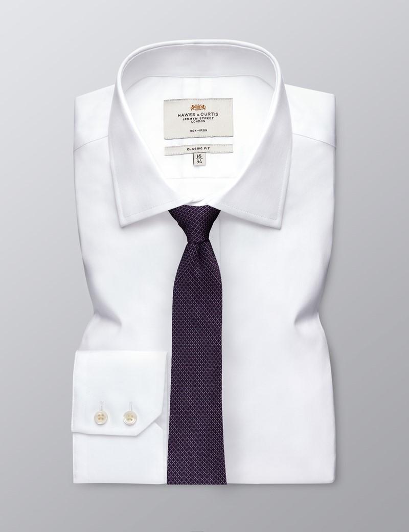 Men's Purple 2 Tone Squares Tie - 100% Silk