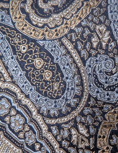 Men's Brown Bold Paisley Tie - 100% Silk