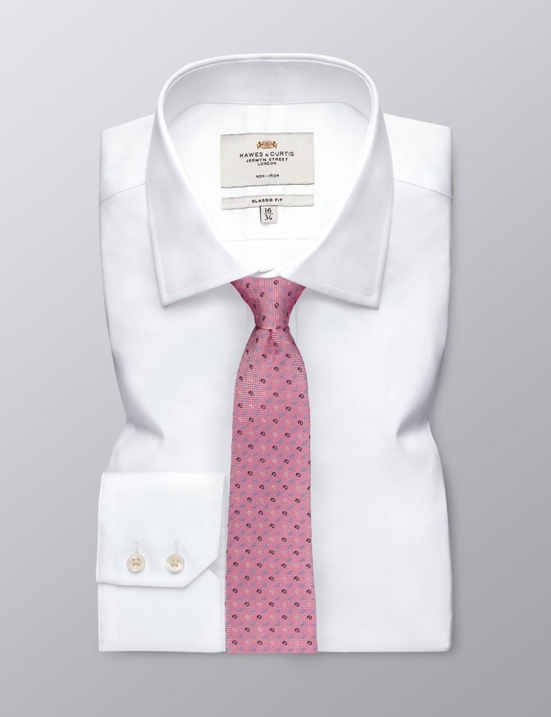 Men's Light Pink Three Tone Teardrop Tie - 100% Silk