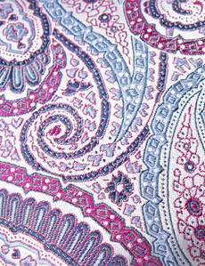 Men's Purple Bright Paisley Tie - 100% Silk