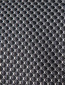 Krawatte – Seide – Standardbreite – Karo schwarz