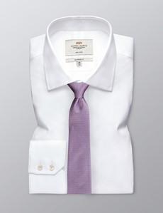 Krawatte – Seide – Standardbreite – Miniquader pink