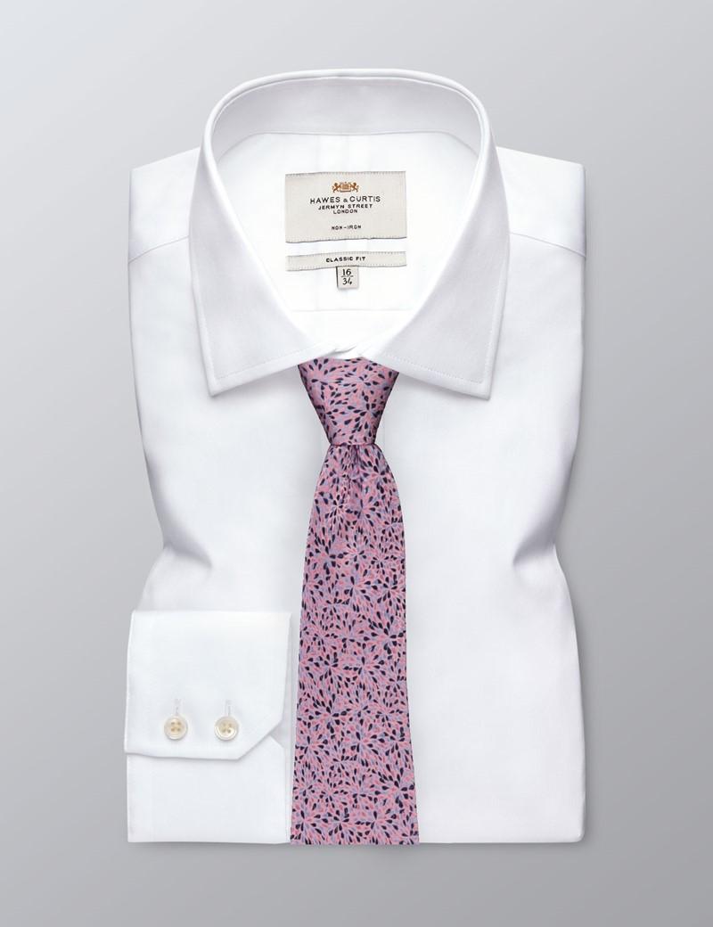 Krawatte – Seide – Spritzer rosa & pink