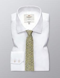 Men's Yellow Two Tone Dash Tie - 100% Silk