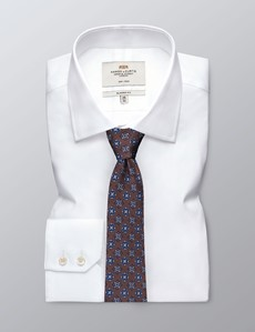 Men's Brown & Blue Contrast Medallions Tie - 100% Silk
