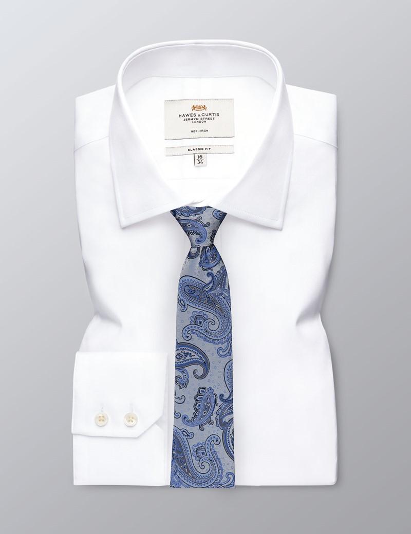 Krawatte – Seide – blau Paisley