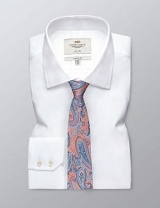 Krawatte – Seide – blau-orange Paisley