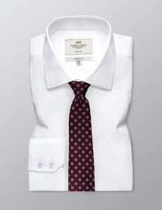 Men's Burgundy Geometric Squares Tie - 100% Silk