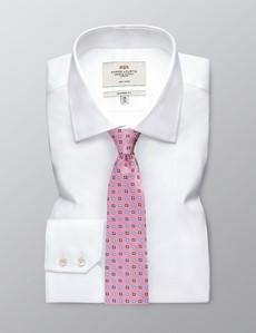 Krawatte – Seide – Standardbreite – pink & blau Medaillons