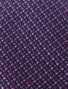 Krawatte – Seide – Standardbreite – Kacheln Lila & Rosa