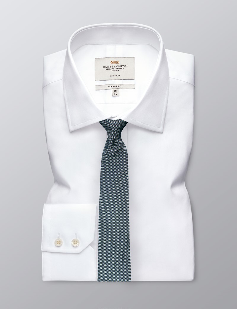 Men's Yellow 2 Tone Squares Tie - 100% Silk