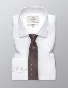 Men's Brown Spots Print Tie - 100% Silk