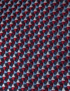 Krawatte – Seide – Standardbreite – Webmuster Rot-Blau