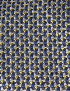 Men's Yellow & Blue Multi Shapes Tie - 100% Silk