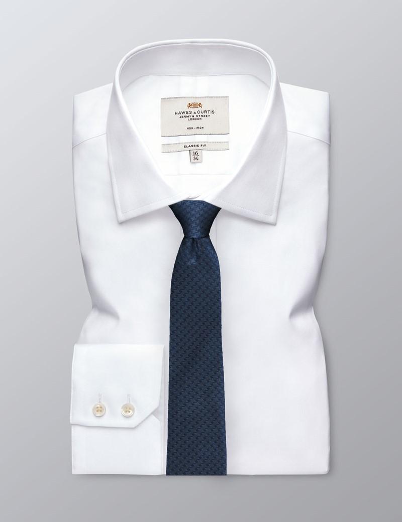 Krawatte – Seide – Schmal – Dunkelblau Muster