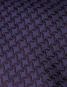 Men's Purple Semi Plain Tie - 100% Silk