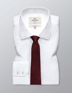 Krawatte – Seide – Schmal – Kupferrot Muster