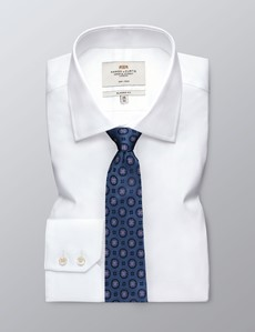 Men's Blue & Lilac Geometric Tie - 100% Silk