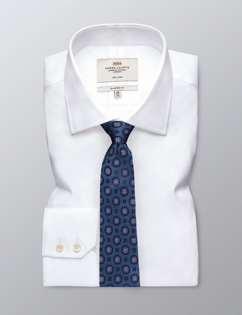 Krawatte – Seide – Standardbreite – Wappenrose blau & lila