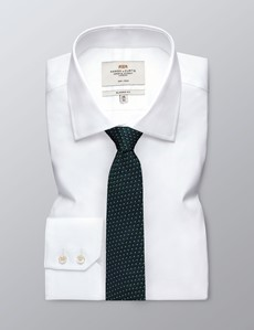 Men's Navy & Green Woven Links Tie - 100% Silk