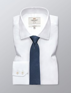Men's Navy & Light Blue Woven Links Tie - 100% Silk