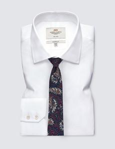 Men's Wine & Green Paisley Tie