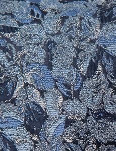 Men's Navy & Blue Two Tone Floral Tie - 100% Silk