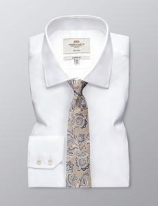 Men's Paisley Light Cream Tie - 100% Silk