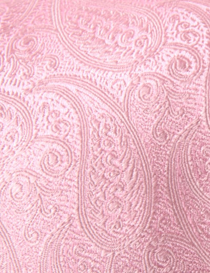 Hochzeits Kollektion – Krawatte – Seide – Paisley pink
