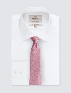 Men's Luxury Rose Paisley Tie - 100% Silk