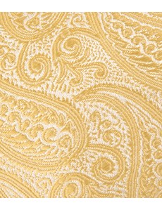 Men's Luxury Yellow Paisley Tie - 100% Silk