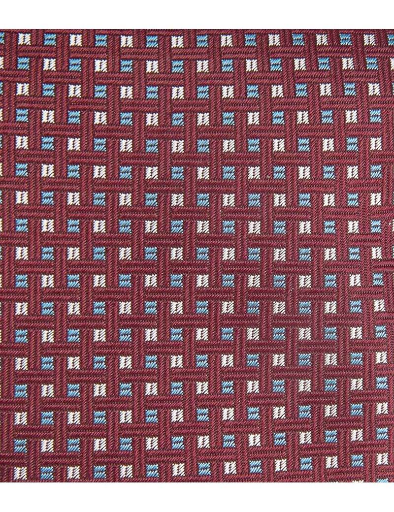 Men's Claret West Ham Lattice Tie 100% Silk