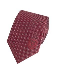 Men's Burgundy West Ham Semi Plain Tie 100% Silk