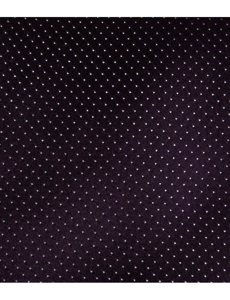 Men's Purple Fine Spot 100% Silk Slim Fashion Tie