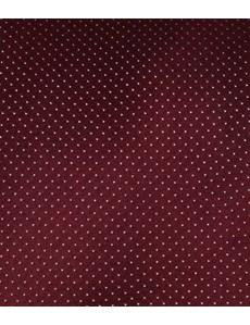 Krawatte – Seide – Schmal – Bordeaux mit Nadeltupfen Dessin