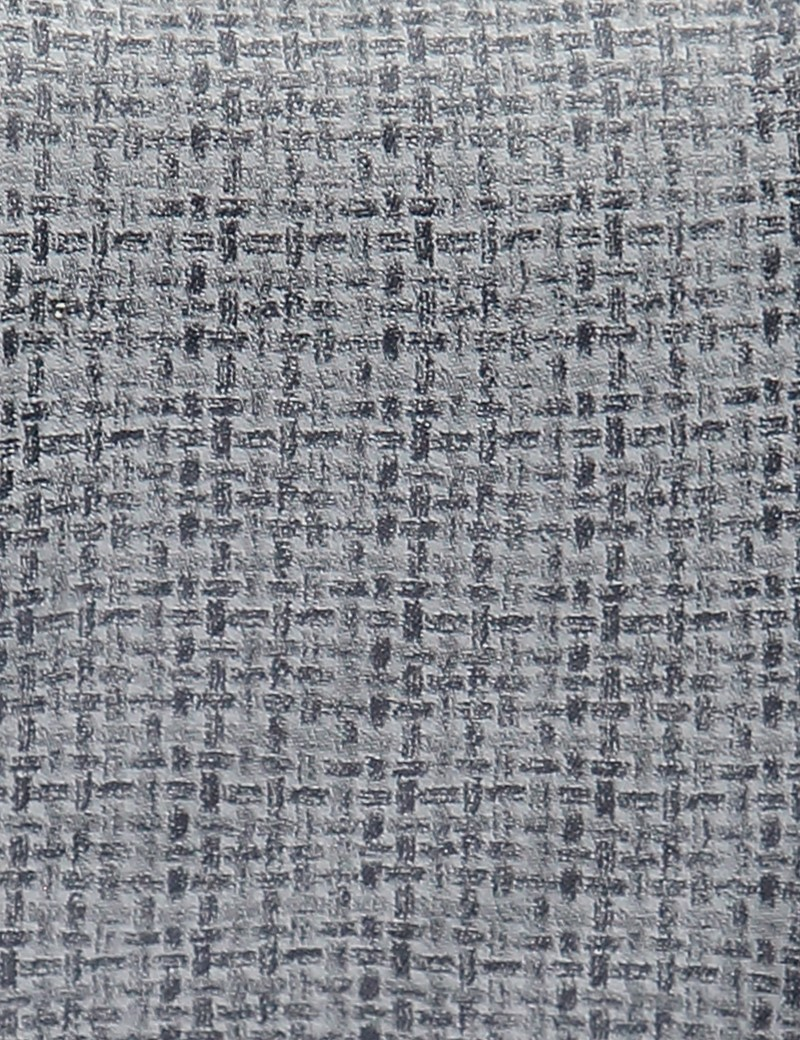 Men's Grey Lattice Tie - 100% Silk