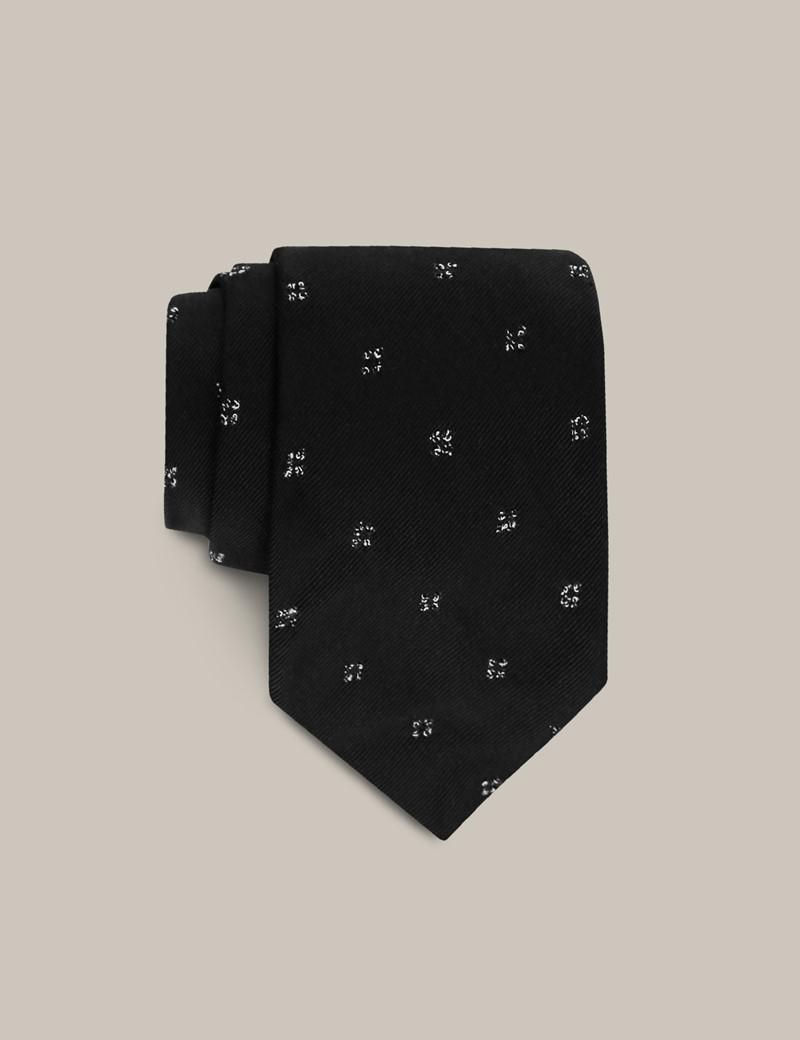 Men's Black Silk Blend Tie