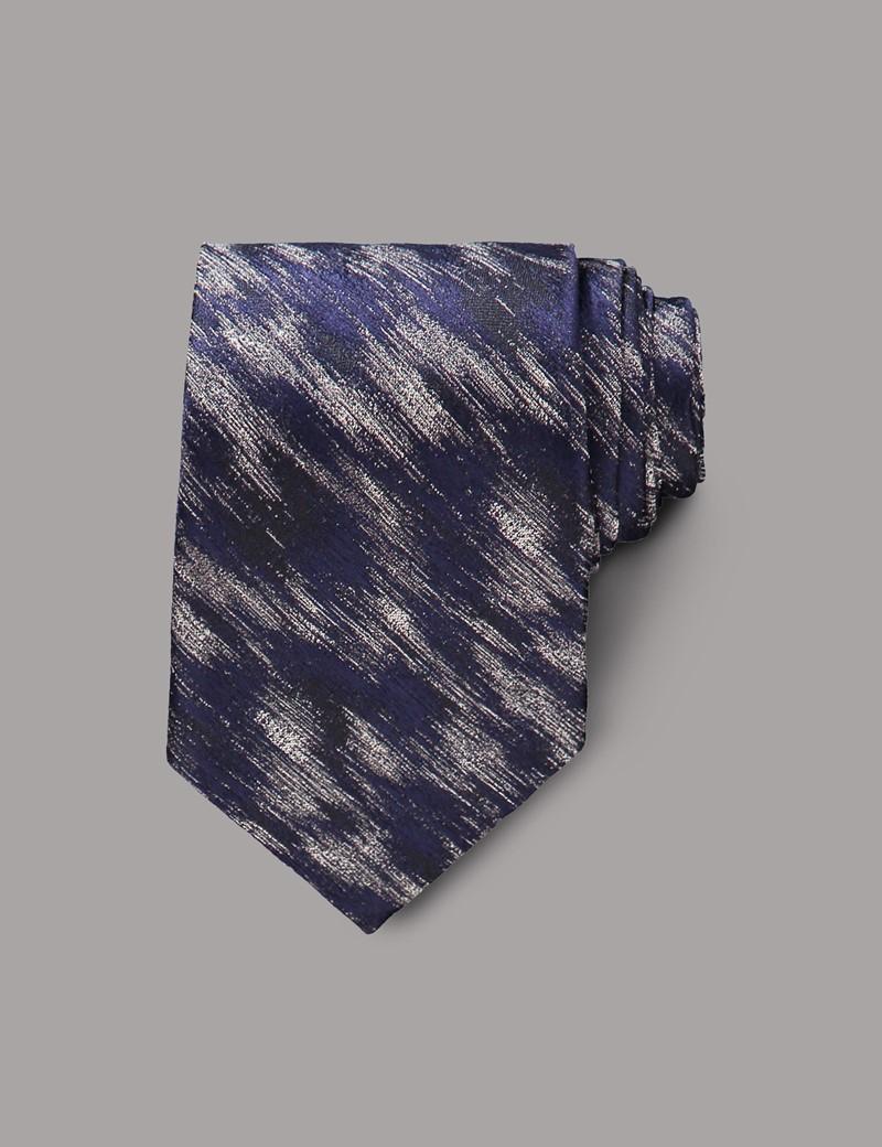 Men's Blue Shaded Tie - 100% Silk