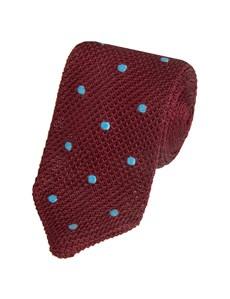 Men's Claret Knitted West Ham Knitted Tie - 100% Silk