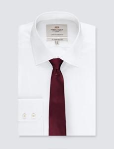Krawatte – Seide – schmal – weinrot Uni