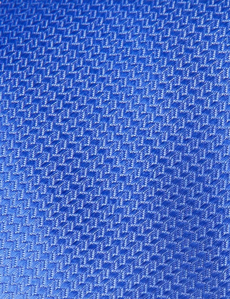 Krawatte – Seide – Standardbreite – Korbgitter kornblumenblau