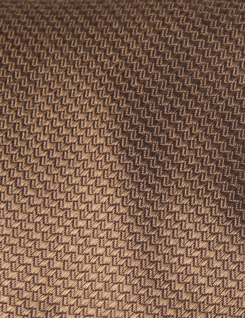 Men's Mocha Basket Weave 100% Silk Tie