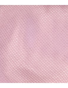 Men's Plain Pink Basket Weave 100% Silk Tie