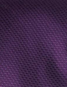 Krawatte - Seide - Korbgitter tiefviolett