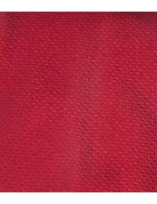 Men's Plain Red Basket Weave 100% Silk Tie