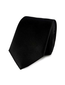 Men's Black Slim Fashion Tie - 100% Silk