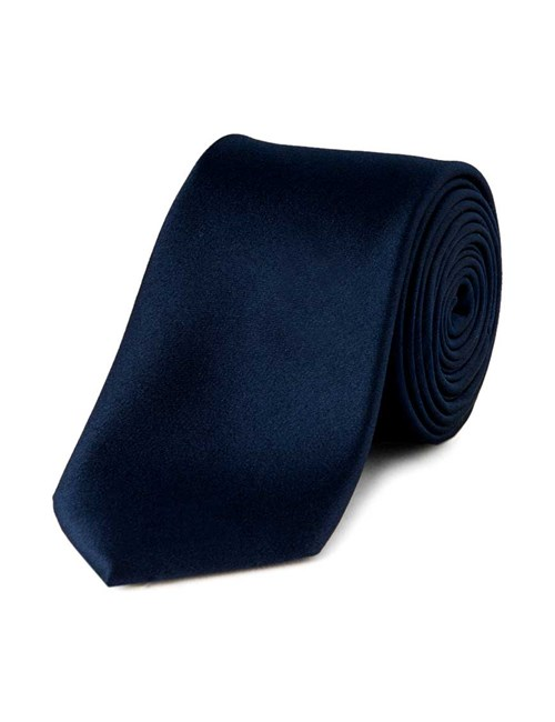 Men's Blue Slim Fashion Tie - 100% Silk
