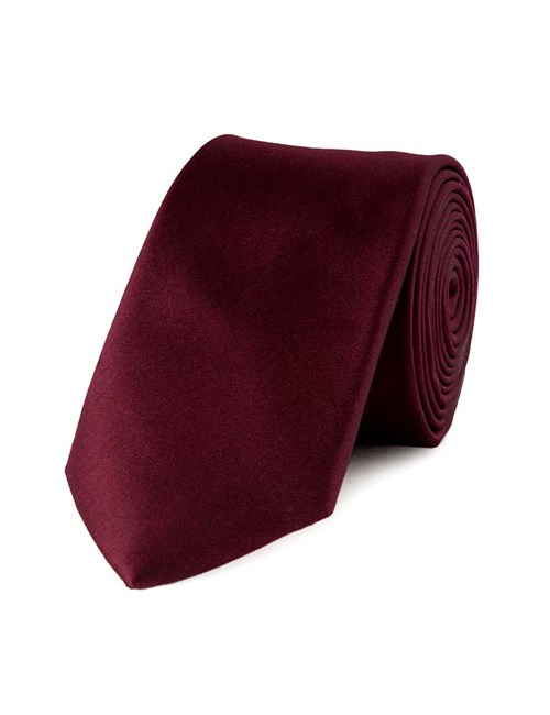 Men's Bordeaux Slim Fashion Tie - 100% Silk